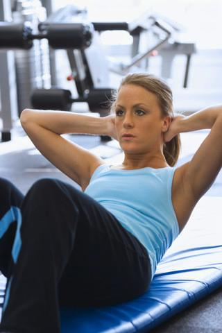 Woman Doing Sit-ups