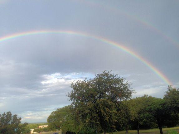 Double Rainbow Near Farm Bureau 8-29-2014