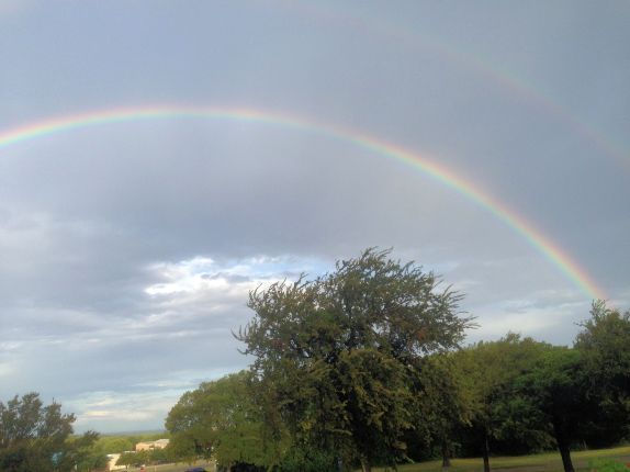Double Rainbow Near Farm Bureau 8-29-2014