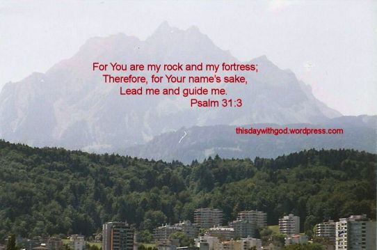 Mountain of Switzerland with Wording
